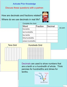 Introduction to Decimals for 4th Grade