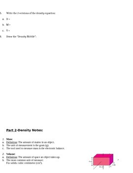 STEM/NGSS: Properties of Matter--Intro to Density Slideshow & Concept Graphic