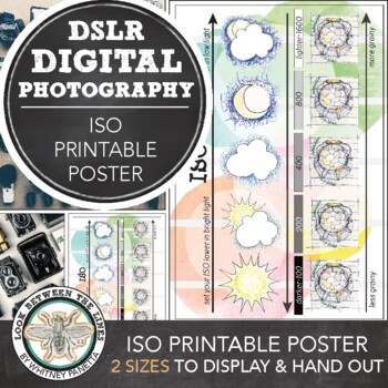 Introduction to Digital Photography Printable Poster, How the ISO Works