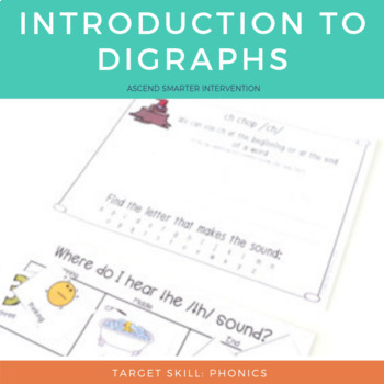 Digraph Activities for ch, sh, th, ck, wh