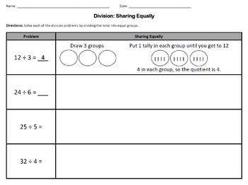 Introduction to Division Activity