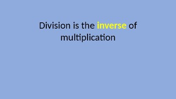Introduction to Division Power Point
