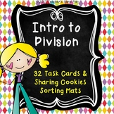 Introduction to Division Task Cards & Sharing Cookies Sorting Mats