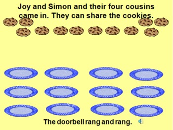 Introduction to Division using read-aloud, The Doorbell Rang