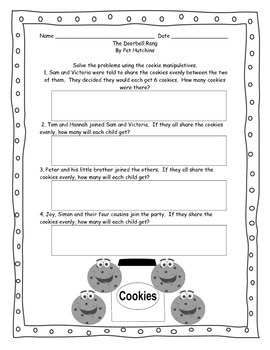 Introduction to Division with The Doorbell Rang Activity and Booklet