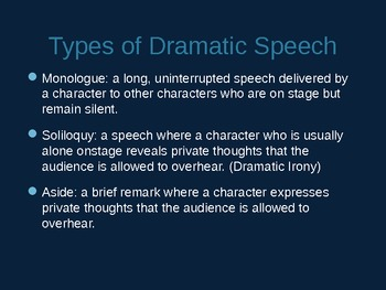 Introduction to Drama & Character Types
