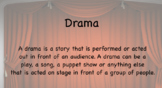 Introduction to Drama Flip-Chart