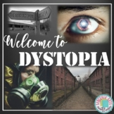 Introduction to Dystopia Powerpoint & Crossword