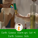 Introduction to Earth Science Exit Ticket or Bell Ringer Task Card Set