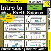 Introduction to Earth Science Puzzle Matching Review Game - Just Froggy Edition