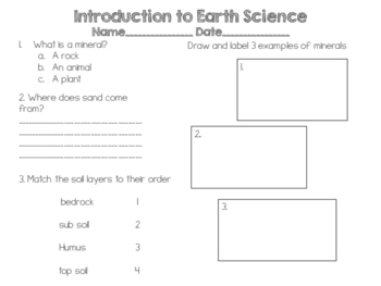 Introduction to Earth Science Quiz