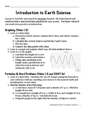 Introduction to Earth Science Unit Packet