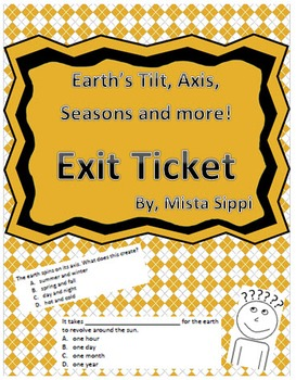 Introduction to Earth's tilt, axis, seasons and more Exit