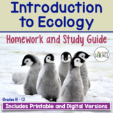 Introduction to Ecology Homework and Study Guide