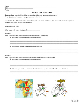 Introduction to Ecology- Invasion Species