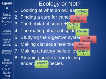 Introduction to Ecology Lesson