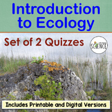 Introduction to Ecology Quizzes