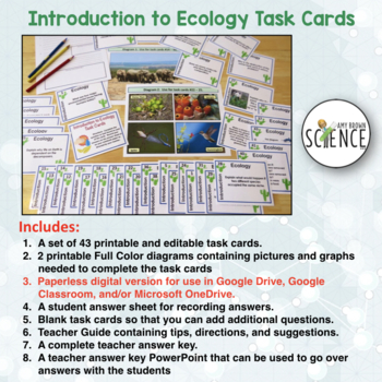 Introduction to Ecology Task Cards