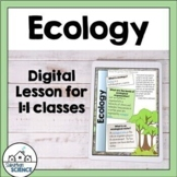 Introduction to Ecology and Food Webs - Lesson & Activity