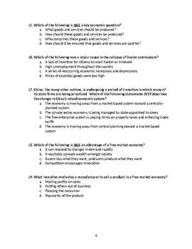 Introduction to Economics Exam