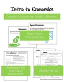 Introduction to Economics Lesson for Middle School