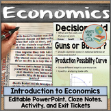 Introduction to Economics Notes and Activities, Editable