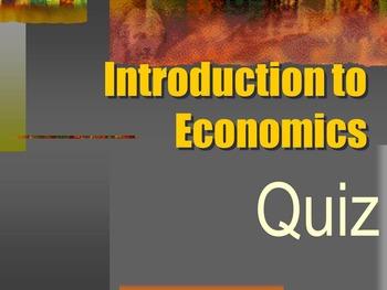 Introduction to Economics Quiz