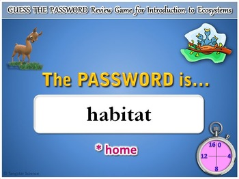 Ecosystems - Guess the Password Terminology Game {Editable}