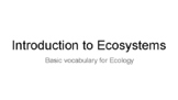 Introduction to Ecosystems pdf file