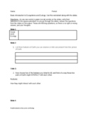 Introduction to Ecosystems worksheet that follows Google Slides