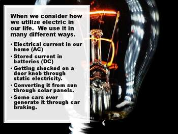 Introduction to Electricity Editable Presentation for Middle School