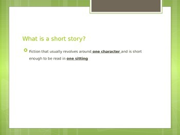 Introduction to Elements of Fiction Powerpoint