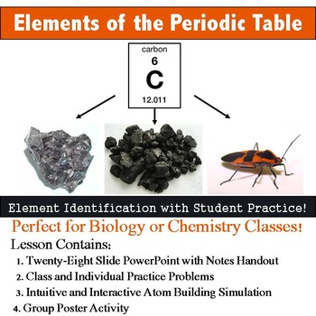 Introduction to Elements of the Periodic Table Lesson and Notes