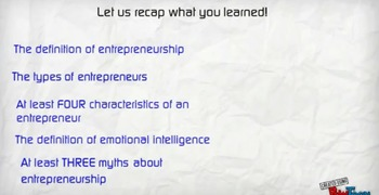 Introduction to Entrepreneurship Video