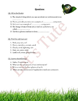 Introduction to Environment | Assessment | Worksheets
