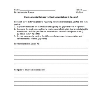 Introduction to Environmental Science Bundle