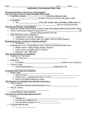 Introduction to Environmental Science Guided Notes