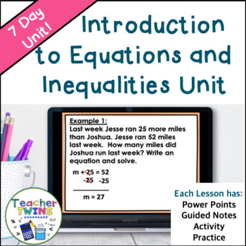 Introduction to Equations and Inequalities Common Core 6.EE.5, 6.EE.7, 6.EE.8