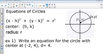 Introduction to Equations of Circles