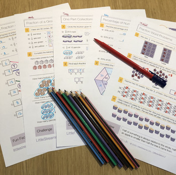 Equivalent Fractions and Decimals Worksheets/Printables