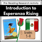 Introduction to Esperanza Rising (A Pre-Reading Research Project)