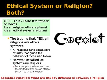 Introduction to Ethical Systems and World Religions
