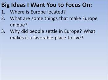 Introduction to Europe