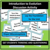 Evolution Intro. - Curious Questions Thinking Activity wit