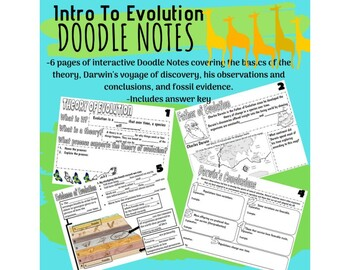 Introduction to Evolution Doodle Notes and Answers