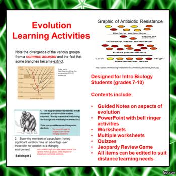 Evolution Lesson Activities