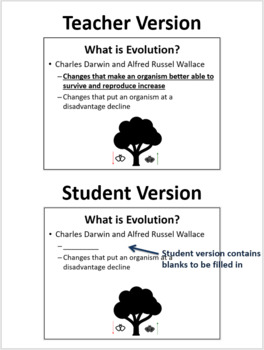 Introduction to Evolution - PowerPoint Lesson and Student Notes
