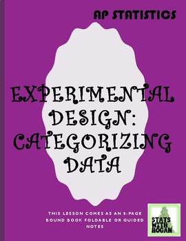 AP Statistics: Introduction to Experimental Design (same lesson as Cat. Data)