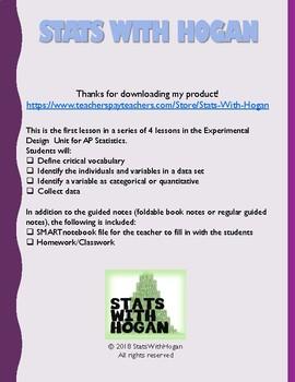 AP Statistics: Introduction to Experimental Design: Categorizing Data