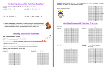 Introduction to Exponential Functions
